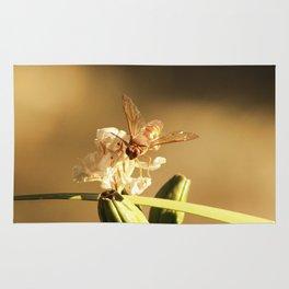 Cicada Hornet on Iris in Sepia Rug