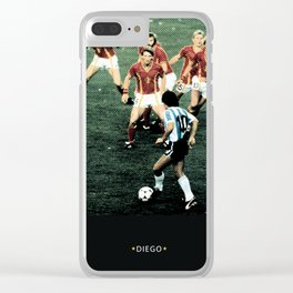 maradona Clear iPhone Case