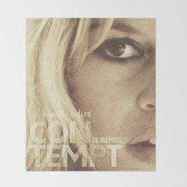 Brigitte Bardot, Contempt, movie poster, Le Mépris, Jean-Luc Godard, Fritz Lang, Throw Blanket