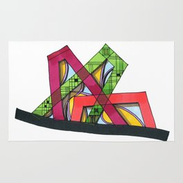 Synagogue Serendipity Geometric Architecture 76 Rug