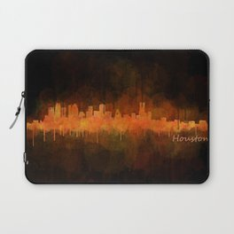 Houston City Skyline Hq v4 DARK Laptop Sleeve