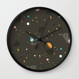 Space unicorn pattern Wall Clock