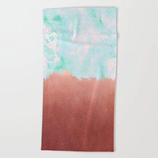 Sea Green + Copper #society6 #decor #buyart Beach Towel