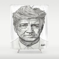 lynch Shower Curtains featuring David Lynch by Paul Nelson-Esch Art