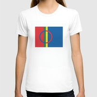 scandinavian T-shirts featuring Sami people ethnic scandinavian Flag by tony tudor