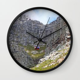 At Table Mountain, Cape Town South Africa Wall Clock