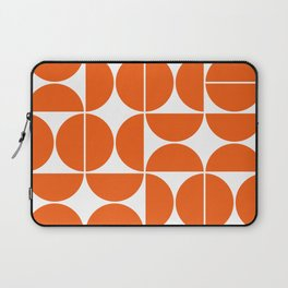 Mid Century Modern Geometric 04 Orange Laptop Sleeve