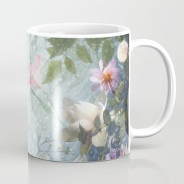 Flowers and Waters in Pale Pink and White Coffee Mug