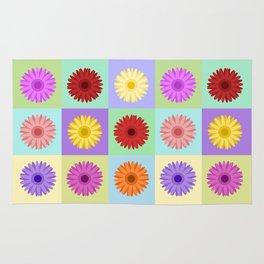 Gerbera Daisies Bright Color Design Rug