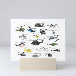 Multiple Helicopters Mini Art Print