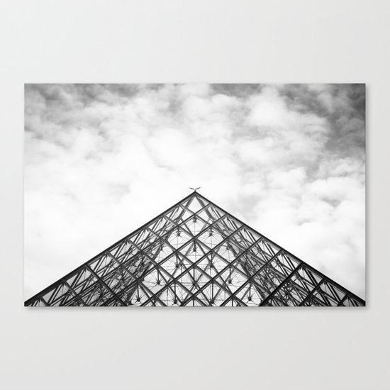 Louvre Pyramid Paris France Canvas Print