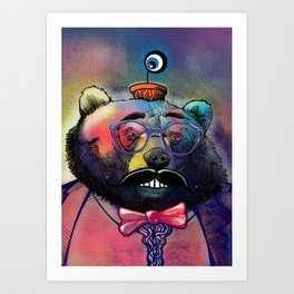 Mr. Snuggles Art Print