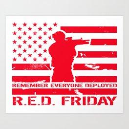 RED Friday Art Print