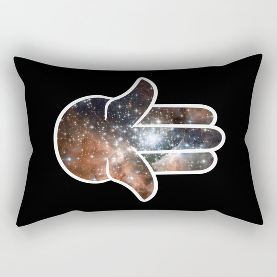 Hamsa Milky Way Rectangular Pillow