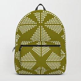 Geometric Dots Pattern - Green Backpack
