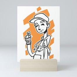 Graffiti Guy (alt) Mini Art Print