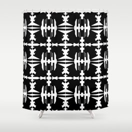 Abstract dance- Black and whit abstract print Shower Curtain