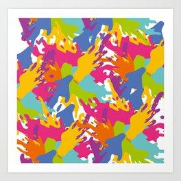 spots, blots, color, colorful, bright, juicy Art Print