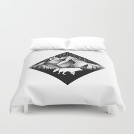 THE LONELY WOLF Duvet Cover