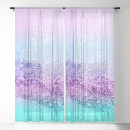 Unicorn Girls Glitter #14 #shiny #decor #art #society6 Sheer Curtain