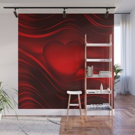 Red heart 16 Wall Mural