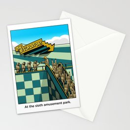 Sloth Amusement Park Stationery Cards