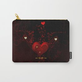 Beautiful hearts with floral elements, valentine's day Carry-All Pouch