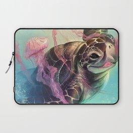 Sea Turtle and Jellyfish! Laptop Sleeve
