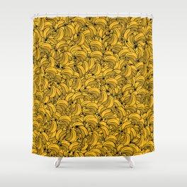 Plenty of Bananas - Yellow Shower Curtain