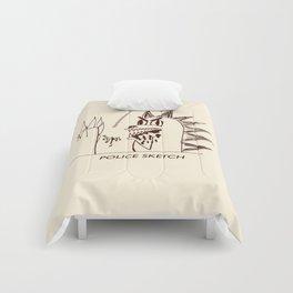 Aberdeen - dinosaur police sketch Comforters