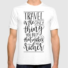 Wanderlust - Hand Lettering Mens Fitted Tee White SMALL