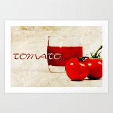 Tomato juice Art Print
