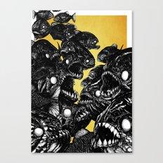 The Riot : Piranhas (Color version) Canvas Print