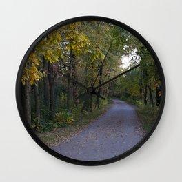 Illinois Autumn Trail Wall Clock