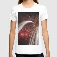 fireworks T-shirts featuring Fireworks by Carolina Jaramillo
