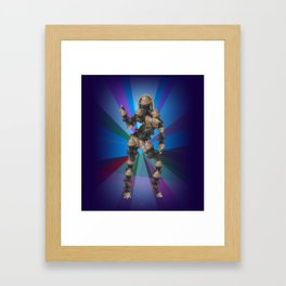 Sexy pump 3. On multicolored background (Predominance of violet) Framed Art Print