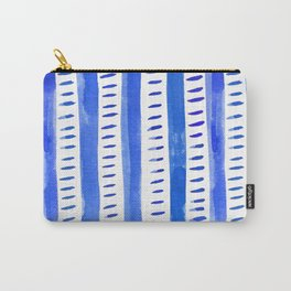 Watercolor lines - blue Carry-All Pouch