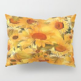 Sunshine Floral Abstract Pillow Sham