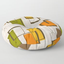 Rectangles and Stars Floor Pillow