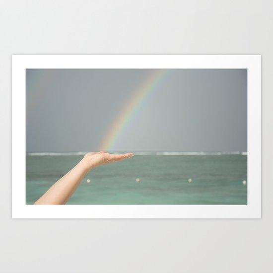 Rainbow Hand Art Print