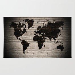 Vignette world map Rug