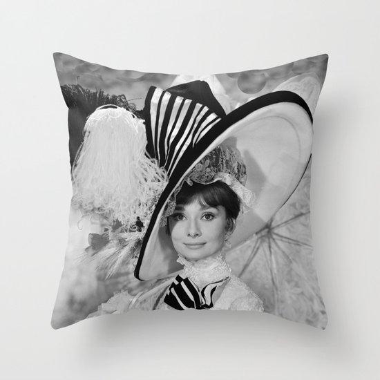 Audrey Hepburn ICONIC ICON BEAUTY SCENE Throw Pillow