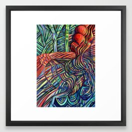 Stacked- Digital Painting Framed Art Print