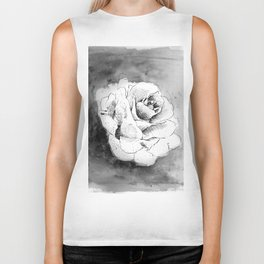 Ink Flower Night III Biker Tank