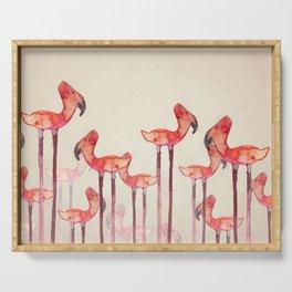 Transmogrified Flamingo Colony Serving Tray