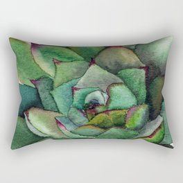 Watercolour succulent petals Rectangular Pillow