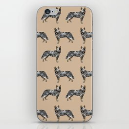 Australian Cattle dog must have gifts for cattle dog owners dog breed pet friendly unique dog art iPhone Skin