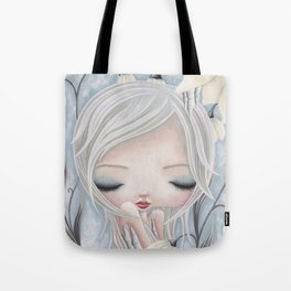 Silence of the Snowdrops Tote Bag