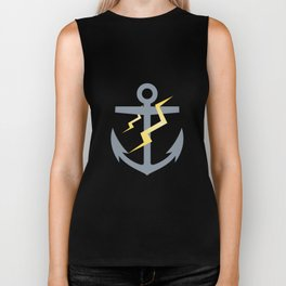 Stormy Nautical Pattern 1 Biker Tank