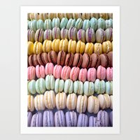 macaroons Art Prints featuring Macaroons by meganxxsweeney